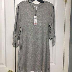 NWT Gray BCBGeneration Dress w/ Cut-out Sleeves